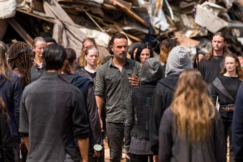 Rick au milieu de la foule