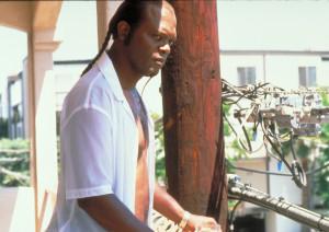 Samuel L Jackson sur le balcon